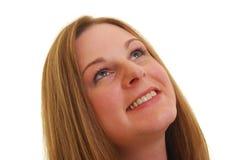 Mujer que mira para arriba Imagen de archivo libre de regalías