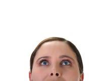 Mujer que mira para arriba imágenes de archivo libres de regalías