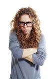 Mujer que parece enojada y frustrada Fotografía de archivo libre de regalías