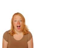 Mujer que parece feliz Fotografía de archivo