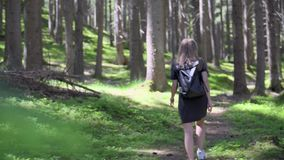 Mujer que recorre en bosque metrajes