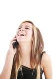 Mujer que reparte hacia fuera la risa imágenes de archivo libres de regalías