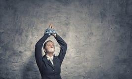 Mujer que ruega para la misericordia Foto de archivo libre de regalías