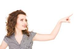 Mujer que señala su finger Fotos de archivo libres de regalías