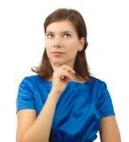 Mujer que se pregunta Imagen de archivo libre de regalías