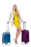 Mujer que se prepara para las vacaciones Imagenes de archivo