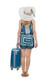 Mujer que se prepara para las vacaciones de verano Fotos de archivo libres de regalías