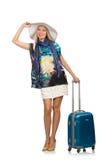 Mujer que se prepara para las vacaciones de verano Fotografía de archivo libre de regalías