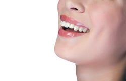 Mujer que sonríe con los grandes dientes Fotografía de archivo libre de regalías