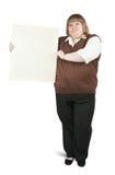 Mujer que sostiene una bandera Foto de archivo