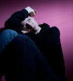 Mujer que sufre de la depresión severa Foto de archivo libre de regalías