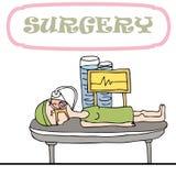 Mujer que tiene cirugía Imagen de archivo