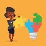 Mujer que tiene ejemplo del vector de la idea del negocio libre illustration
