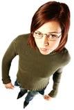 Mujer que tiene problemas financieros Imagenes de archivo