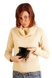 Mujer que tiene problemas financieros Foto de archivo libre de regalías