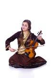 Mujer que toca el violín Fotos de archivo libres de regalías