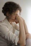 Mujer que toma la decisión Imagen de archivo libre de regalías