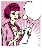 Mujer que toma notas stock de ilustración