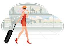 Mujer que viaja Imagen de archivo libre de regalías