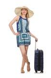 Mujer que viaja el verano Fotos de archivo