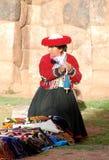 Mujer quechua Foto de archivo libre de regalías
