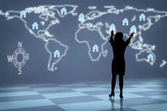 Mujer Real Estate global de la silueta