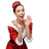 Mujer retra alegre Fotografía de archivo libre de regalías