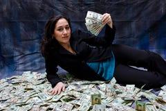 Mujer rica Foto de archivo libre de regalías