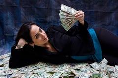 Mujer rica Imágenes de archivo libres de regalías