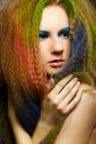 Mujer rizada de pelo largo del redhead Fotos de archivo libres de regalías