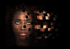 Mujer robótica Fotografía de archivo libre de regalías