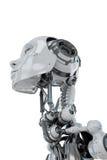 Mujer robótica apacible Imagenes de archivo