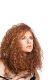 Mujer roja hermosa del pelo Imagen de archivo libre de regalías