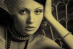 Mujer romántica Foto de archivo libre de regalías
