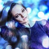 Mujer romántica sensual joven de la belleza. Estilo multicolor del arte pop. Fotos de archivo