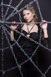 Mujer rubia atractiva fotografía de archivo libre de regalías