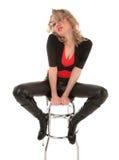 Mujer rubia atractiva imagen de archivo libre de regalías