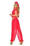 Mujer rubia de Beautiul en traje de la belleza de Oriente. imagen de archivo libre de regalías