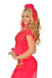 Mujer rubia de Beautiul en traje de la belleza de Oriente. fotografía de archivo