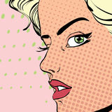 Mujer rubia estricta Imágenes de archivo libres de regalías
