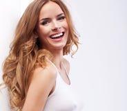 Mujer rubia feliz Imagen de archivo libre de regalías