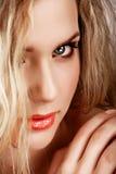 Mujer rubia hermosa Fotografía de archivo