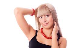 Mujer rubia hermosa Fotos de archivo libres de regalías
