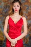 Mujer rubia muy atractiva y sensual fotografía de archivo