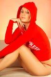 Mujer rubia que se relaja Imagen de archivo