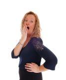 Mujer rubia sorprendida de la Edad Media Imagen de archivo