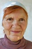 Mujer rusa en los sus años ochenta Fotos de archivo libres de regalías