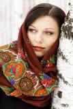 Mujer rusa magnífica imagen de archivo libre de regalías
