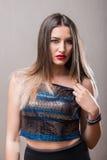 Mujer sensual con actitud Fotografía de archivo libre de regalías