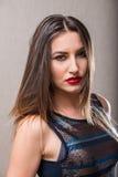 Mujer sensual con el top del disco Fotografía de archivo libre de regalías